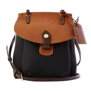DOONEY & BOURKE Saddle Bag Nylon Leather Black